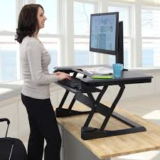 Sit And Stand Computer Desk by Ergotron Workfit Tl Create A Comfortable Sit Stand Work Area