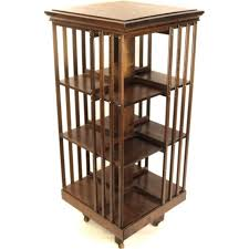 Revolving Bed Decorating Mahogany Wood 3 Tier Revolving Bookcase For Home