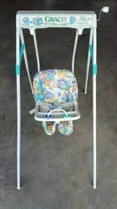 vintage baby swing graco wind up reclining seat collectors works