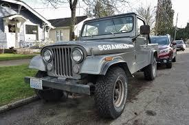 cj8 jeep seattle u0027s parked cars 1982 jeep cj 8 scrambler