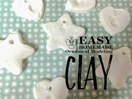 easy ornament modeling clay clever