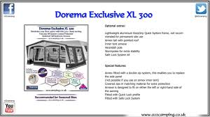Annex For Caravan Awning Dorema Exclusive Xl 300 3m Caravan Awning Youtube