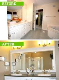 how much does a bathroom mirror cost how to frame a builders grade mirror before and after via