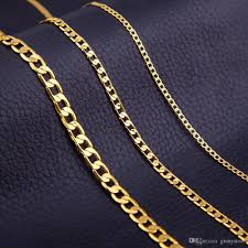 accessories chain necklace images Wholesale men gold link chain necklace 4mm 6mm 8mm chain jewelry jpg