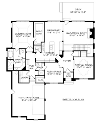 tudor style house plan 5 beds 4 00 baths 3436 sq ft plan 413 884