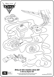 cars 2 activity sheets