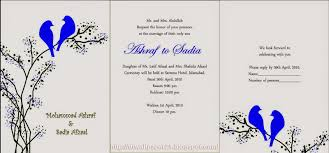 Designs For Invitation Card Mehndi Invitation Card Designs Wording And Style Fashionexprez