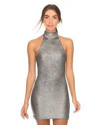 halter neck halter neck silver bodycon dress forbes motel rocks