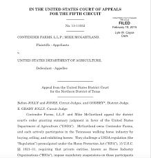 u s fifth circuit court of appeals overturns usda u201cmandatory