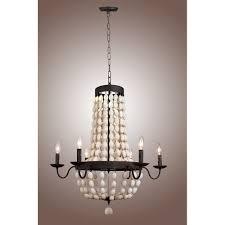 wood bead ceiling light 32 vintage iron frame hardware wood wooden beads chandelier