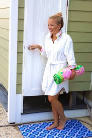 Lilly Pulitzer Rug Outside Shower With Fun Flooring I Believe In Pink