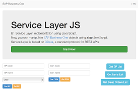 b1 service layer with javascript u2013 handling b1 objects without