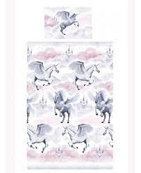 West Ham Duvet Cover Pink Stardust Unicorn Single Duvet Cover U0026 Pillowcase