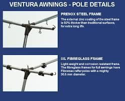 Awning Pole Ventura Pacific 300 Ventura Awnings Caravan Awnings