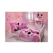 Minnie Mouse Bed Frame Amazon Com Minnie Mouse Flower Garden 4 Piece Toddler Bedding
