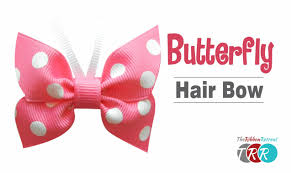 how to a butterfly hair bow theribbonretreat com