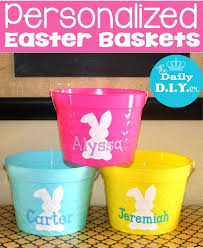 monogrammed easter buckets top personalized easter basket within personalized easter baskets