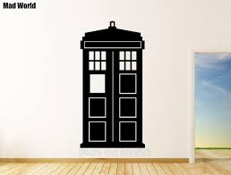 mad world doctor who tardis silhouette wall art stickers wall