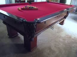 slate top pool table antique brunswick aviator oak slate top pool table used brunswick