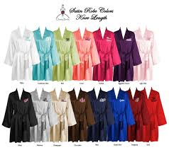 bridesmaid satin robes personalized satin robe with name on front custom embroidered
