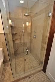 bathroom remodel shower door and half wall for the home