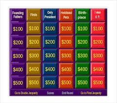 Jeopardy Template For Teachers Free Jeopardy Game For Teachers Jepordy Template