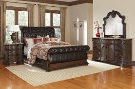 Monticello Dining Room Monticello 6 Piece King Sleigh Bedroom Set Pecan American