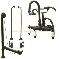Oil Rubbed Bronze Clawfoot Tub Faucet Buy Oil Rubbed Bronze Wall Mount Clawfoot Bath Tub Faucet W Hand