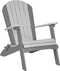 Grey Adirondack Chairs Luxcraft Folding Adirondack Chair Amish Yard