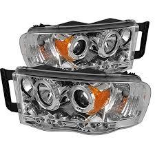 02 dodge ram headlights amazon com spyder auto dodge ram 1500 2500 3500 chrome halogen