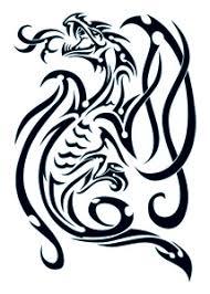 black tribal dragon temporary tattoo 50 dra 40051
