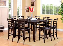 Large Square Folding Table by Furniture Comely Bar Height Square Dining Table For Room Chairs