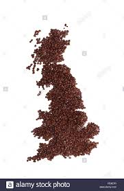 Map Of England And Scotland by Map Of Uk Or Scotland And England Made Of Brown Fresh Roasted
