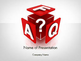 faq cube powerpoint template backgrounds 11987