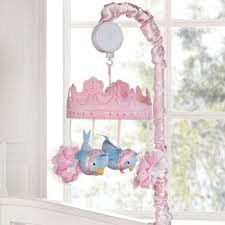 disney baby cinderella princess u0027s crib musical mobile pink
