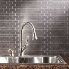sticky backsplash for kitchen peel and stick mini subway metal tiles diy metals