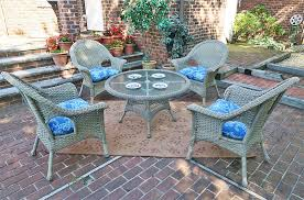 Patio High Table by High Back Veranda Resin Wicker Conversation Sets With 24