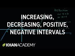 increasing decreasing positive or negative intervals video