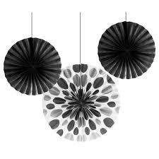 paper fans bulk black bulk party hanging paper fans solid polka dot decoration