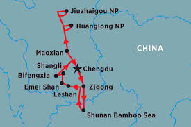 Chengdu China Map by Secrets Of Sichuan China Tours Peregrine Adventures De