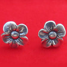 avery stud earrings retired avery sterling silver 925 pansy flower stud