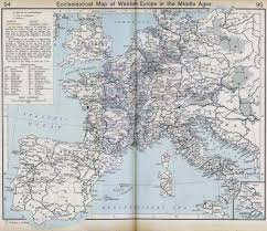 Western Europe Map by Map Of Western Europe In The Middle Ages