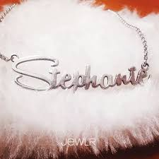 Personalized Name Necklace Sterling Silver Personalized Name Necklace Chains Sterling Silver And Rose