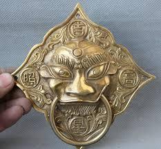 foo dog door knocker aliexpress buy scy 7 palace brass fu foo dog lion