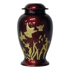 funeral urn dove brass cremation urn safe passage urns
