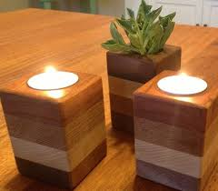 Small Wood Projects For Gifts by Best 25 Wood Candle Holders Ideas On Pinterest Log Candle