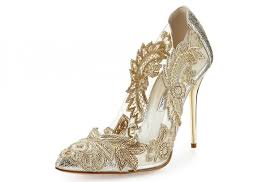wedding shoes embellished wedding shoe trends shopping for shiny metallic bridal and