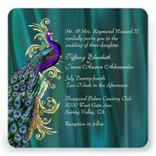 peacock wedding invitations personalized peacock wedding invitations