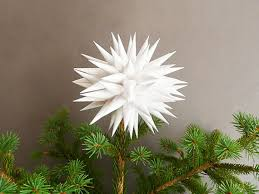 white tree topper modern tree topper home