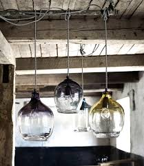 large glass pendant lights for kitchen eclectic hand blown glass pendant lights by the forest co